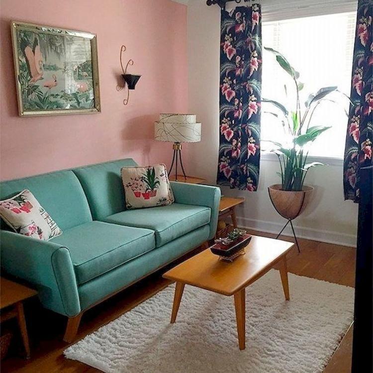 40+ Vintage Living Room Ideas Decoration | Retro living ...