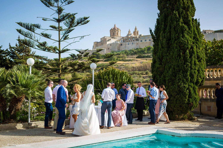 Bride And Groom Arrive At Their Wedding Reception Venue The Olive Gardens Mdina Malta Destination Wedding Images Destination Wedding Wedding Reception Venues