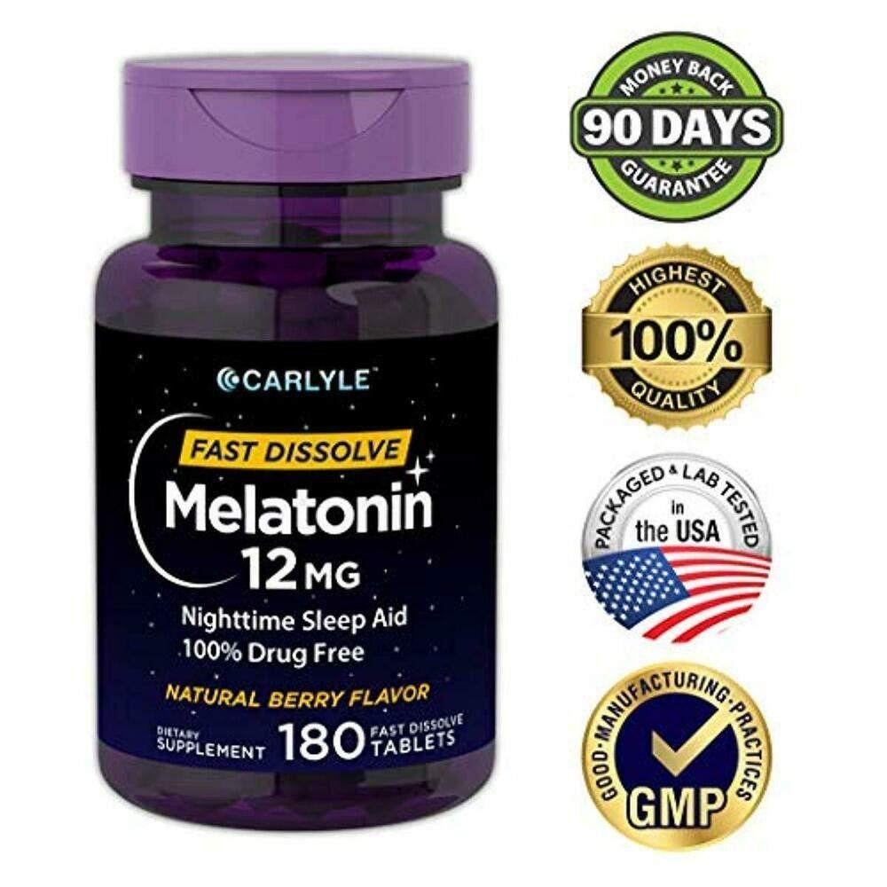 Details Zu Melatonin 12mg Fast Dissolve 180 Tabletten Nighttime Sleep Aid Berry Flavor Finden Sie Viele Tolle Neue Und Gebrauchte Optionen Und Erhalten Sie Die