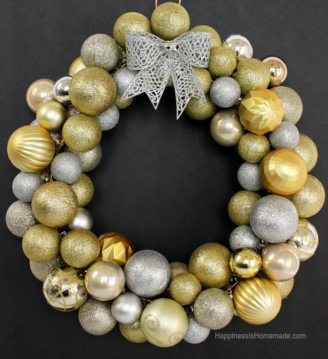 Decorating Wreath With Christmas Balls Diy Christmas Ornament Wreath Tutorial  Christmas Ornament Wreath