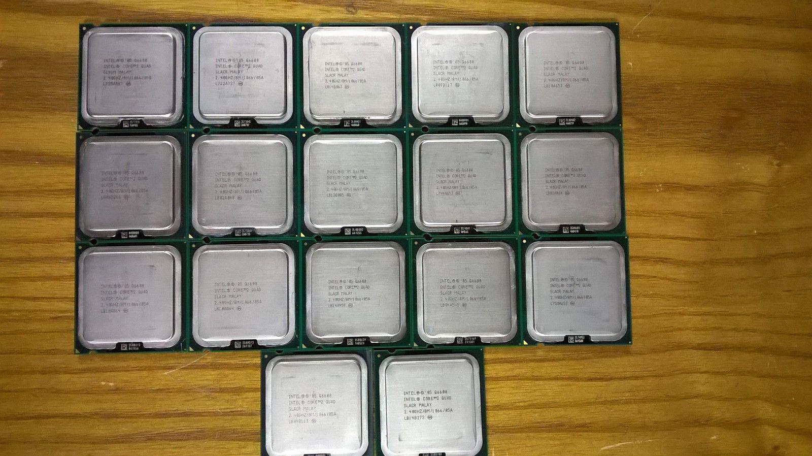 17 Intel Core 2 Quad Q6600 240ghz 8m 1066 Slacr Sl9um Cpus