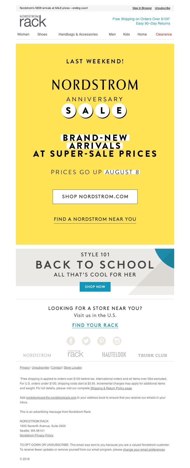 Nordstrom Rack Shop The Last Weekend Of Anniversary Sale