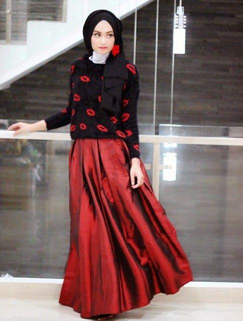 Model Baju Atasan Muslim Wanita Modern Terbaru Untuk Pesta Travel