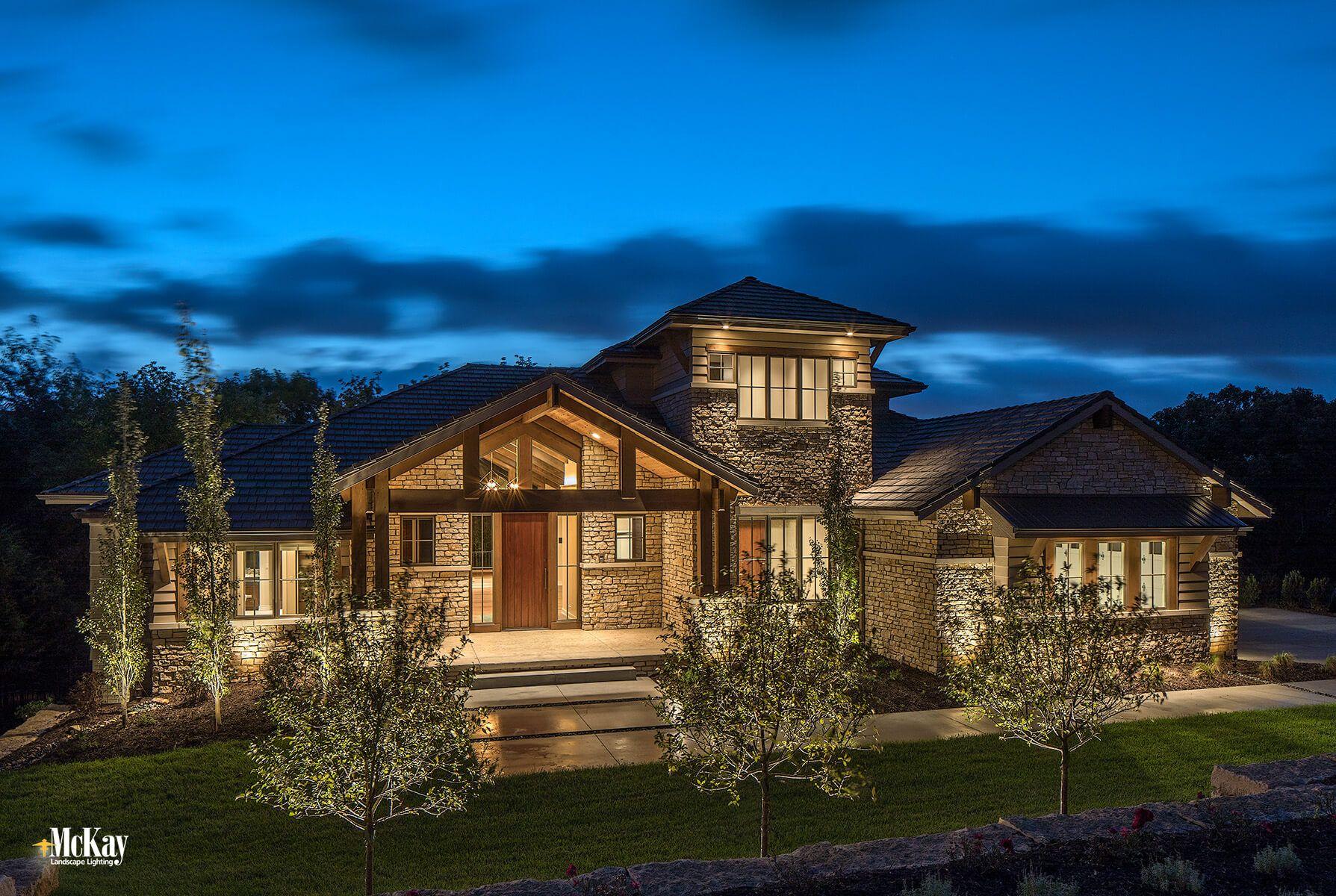 Landscape Lighting Design Modern Mountain Home Modern Mountain