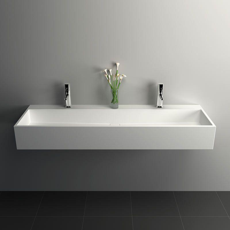 mineral, plan vasque salle de bain suspendu 120,5x40 cm, matière