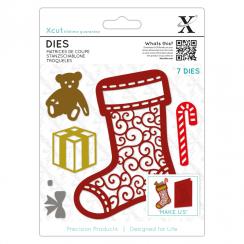 X-cut Dies (7pcs) - Filigree Chritsmas Stocking