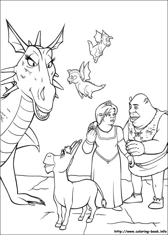 shrek coloring pages | Shrek Coloring Pages - Coloring Pages ...