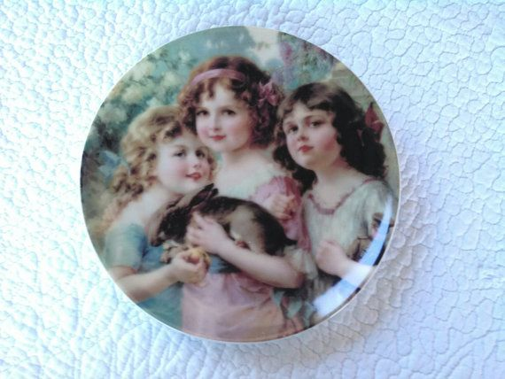 Vintage / Collectible Plate / Rabbit / Children / Wall by shersum, $15.00