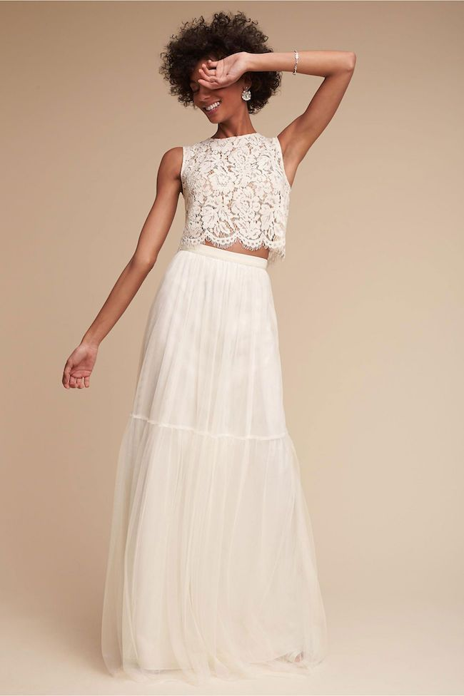 Check Out This Epic Selection of 2 Piece Wedding Dresses NOW!