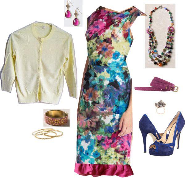 """Wedding Guest Look--dress with slip"" by jennifoundinmycloset on Polyvore"