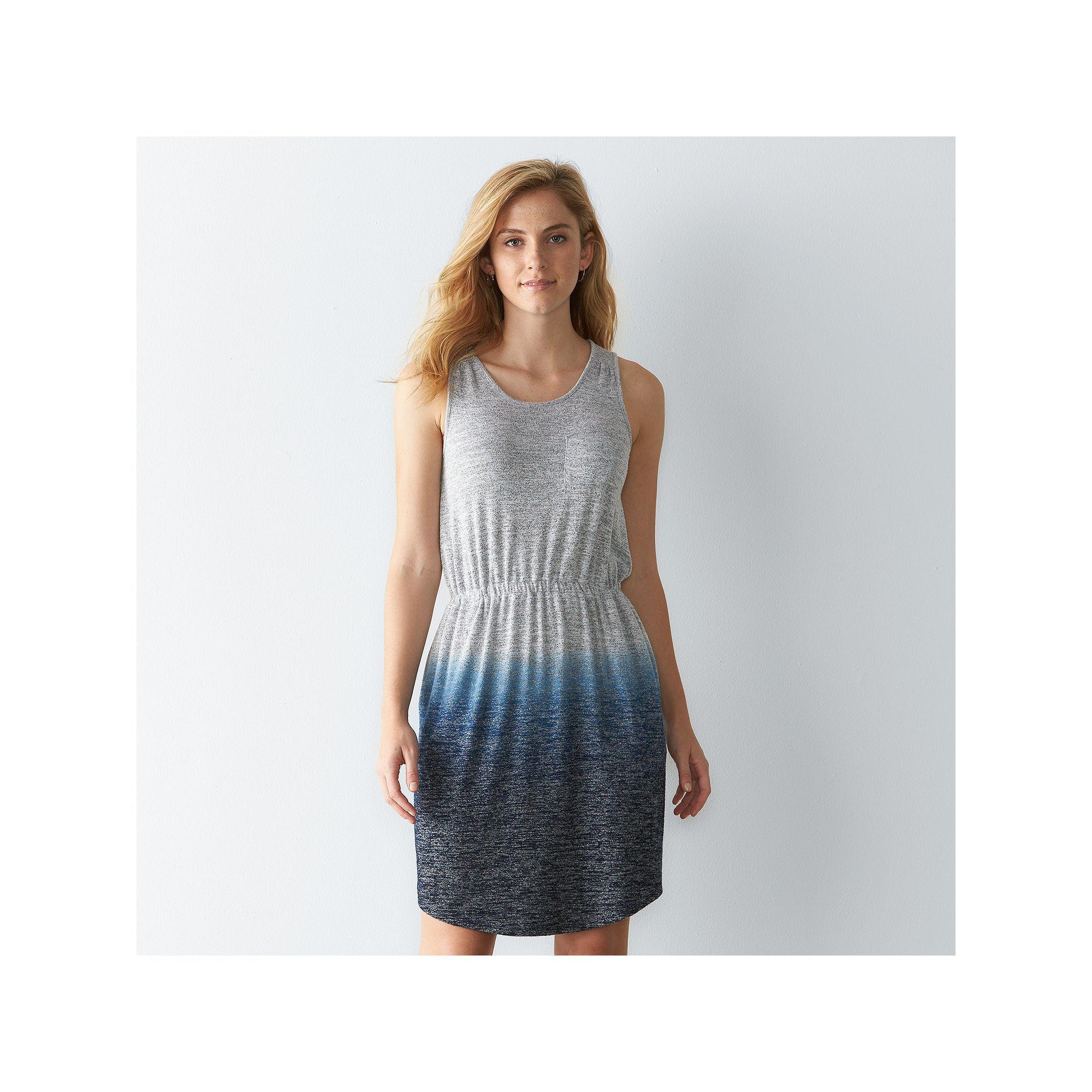Womenus sonoma goods for lifeâue dipdyed tank dress size xl