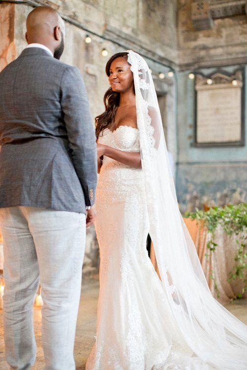 Plain Wedding Dress With Lace Veil 64 Off Awi Com