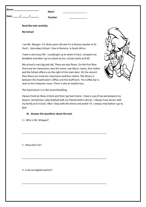 Present Simple Through Reading Worksheet Reading Worksheets, Reading  Comprehension Worksheets, Simple Present Tense