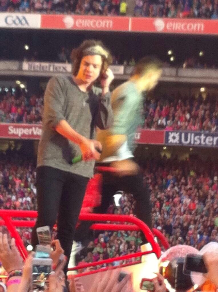 Harry on stage in Dublin, Ireland 5.25.14 (night 3)