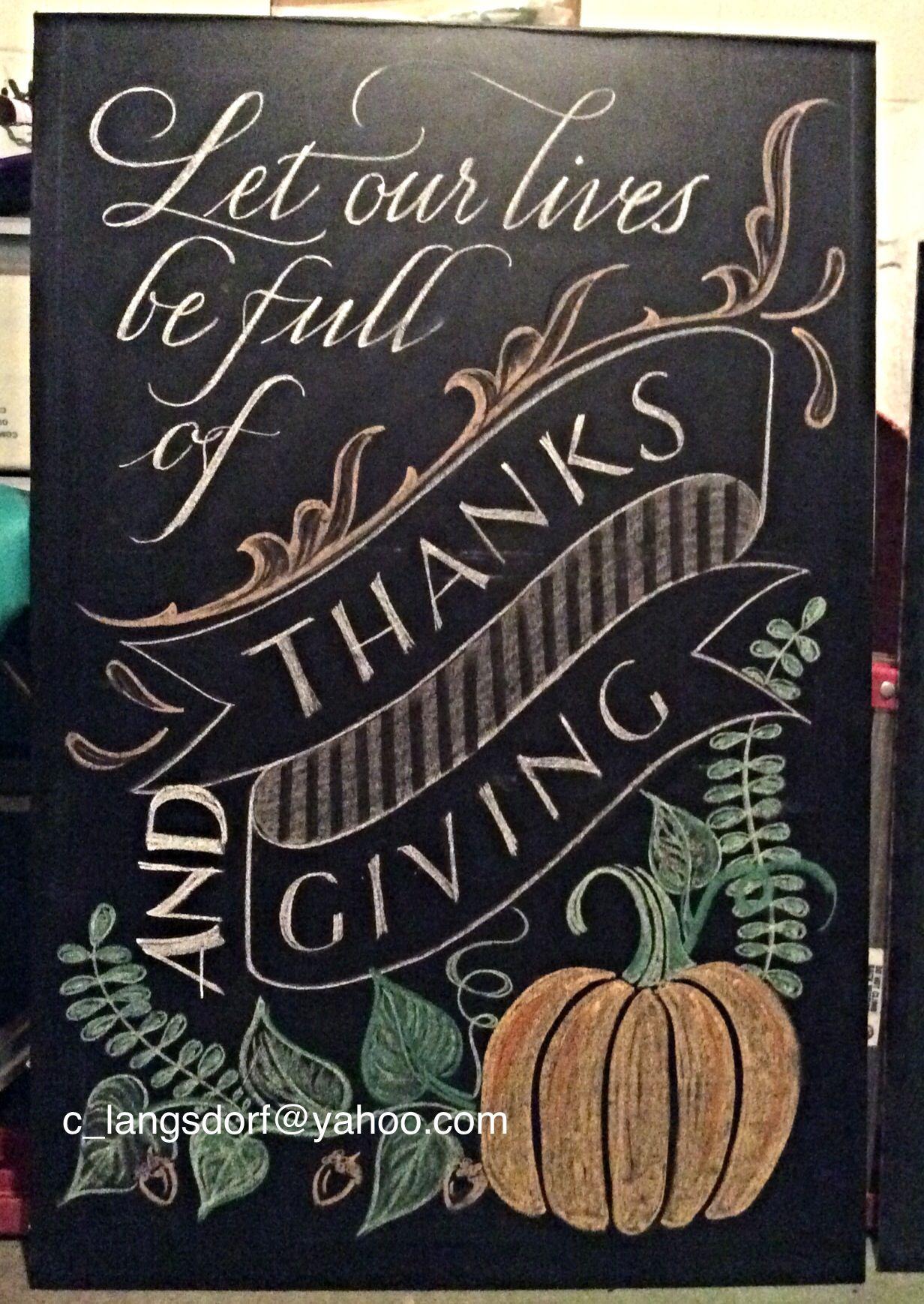 Thanksgiving Chalkboard Art Ideas