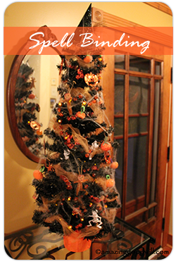 spell binding trees arent just for christmas this diy halloween tree halloween decorations - Halloween Tree Decorations