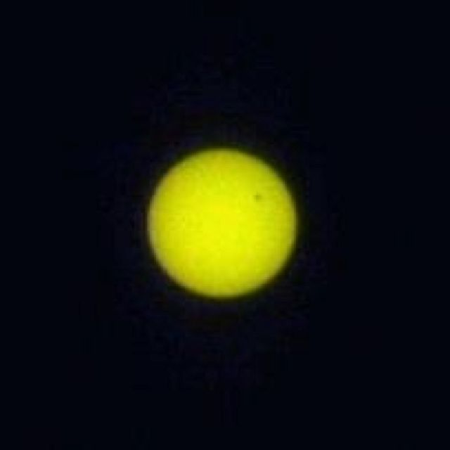 Venus in front of sun from my house