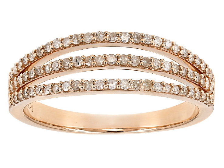 White Diamond 10k Rose Gold Ring 33ctw Diamond Gold Rings Yellow Gold Rings