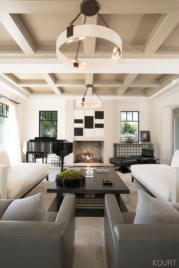 Peek Inside Kourtney Kardashianu0027s Sleek Living Roomu2014and Copy The Look