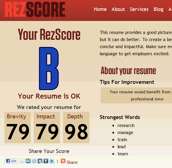 ReZScore: Free Resume Grader Online | Creating a Successful ...
