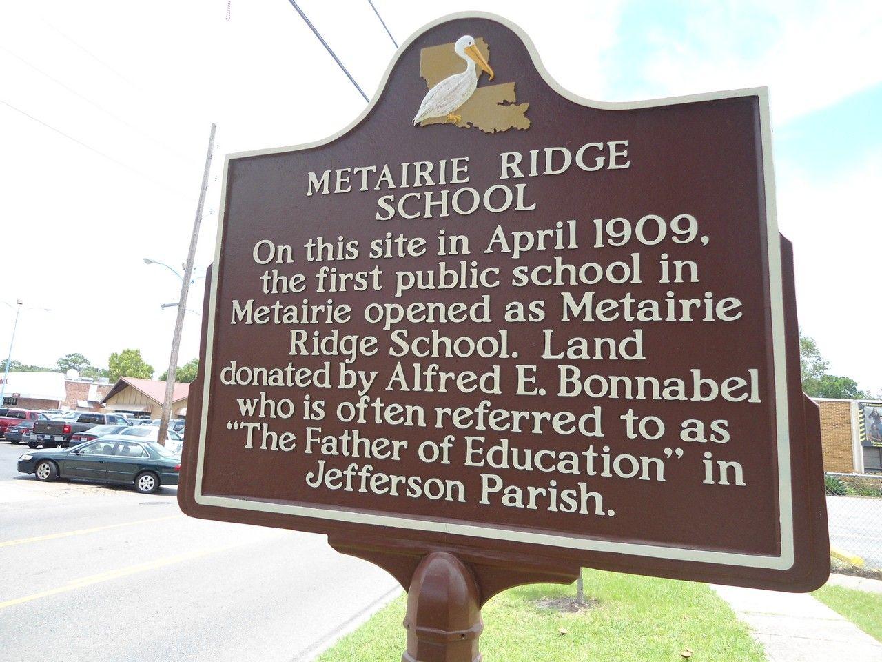 Metairie Ridge School, Metairie, Jefferson Parish
