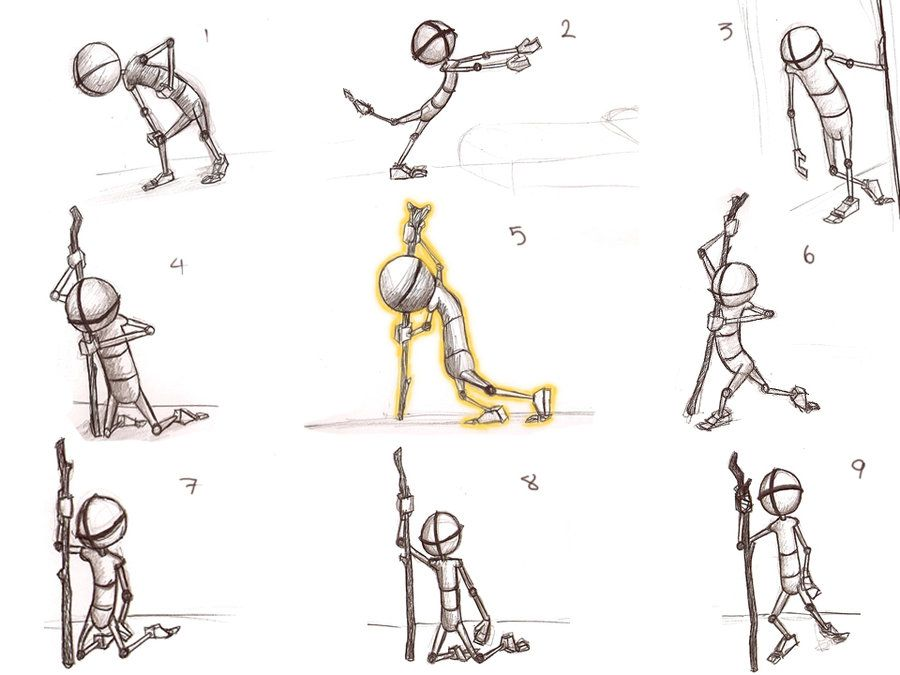 Character Design Study : Exhausted pose study by ambair viantart on