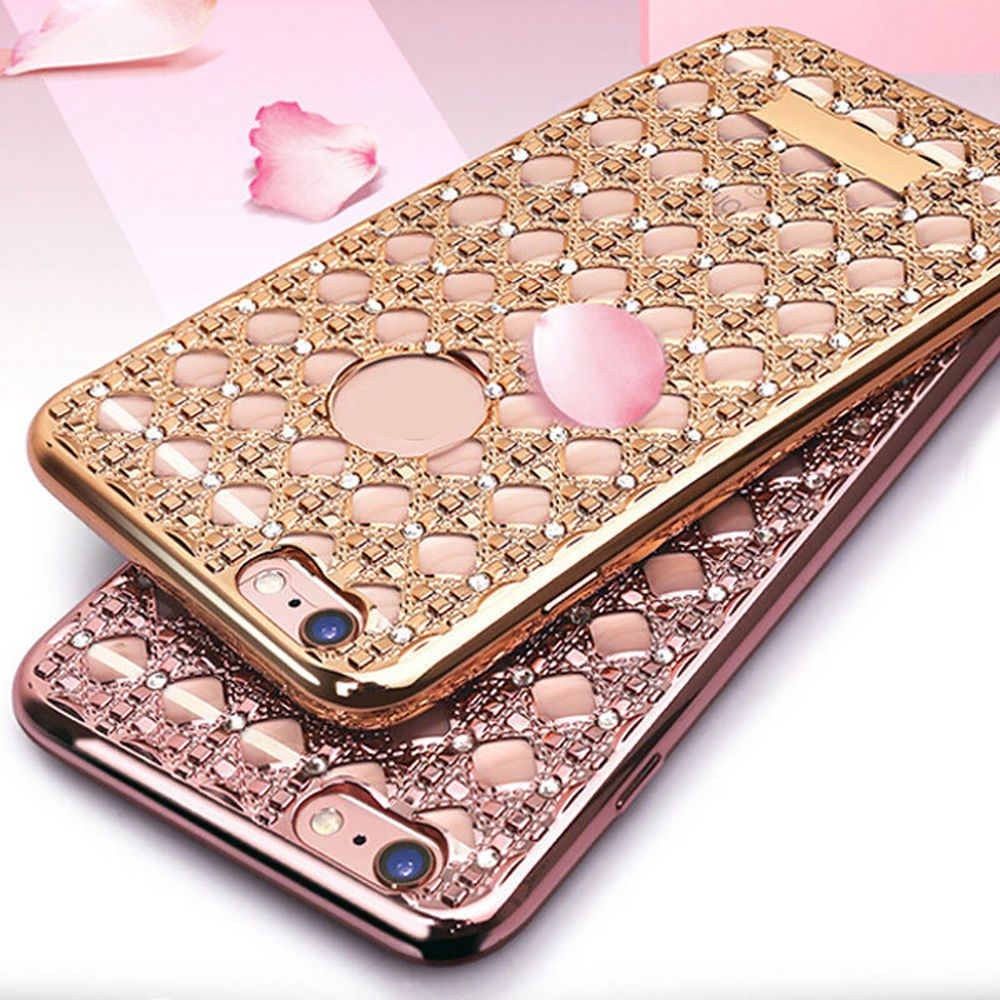 For Iphone 6 6s Plus Bling Glitter Shockproof Rubber Diamond Soft Tpu Case Cover Silicone Phone Case Iphone Iphone Wallet Case