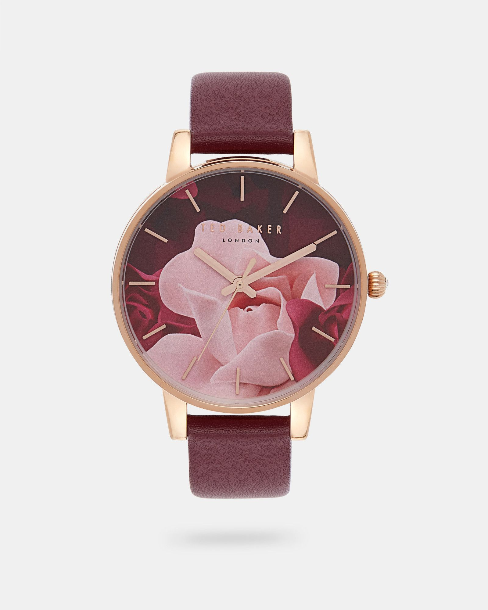 amp kiely image strap red ivy watches orla watch black leather maroon printed