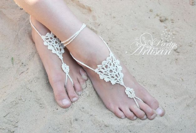 crochet barefoot sandals on pinterest barefoot sandals pattern