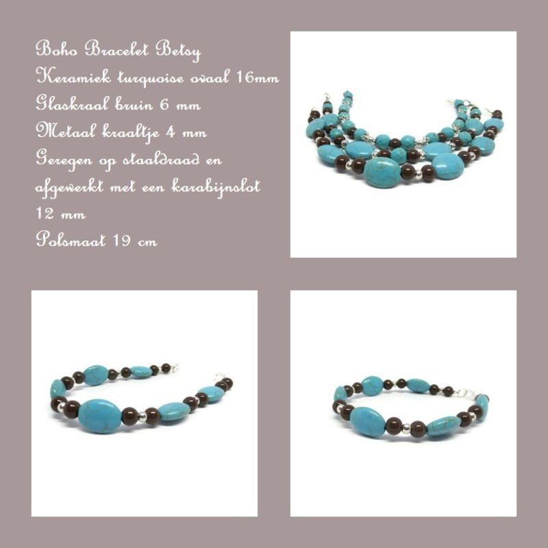Boho bracelet Betsy Bohemian sieraden Pinterest