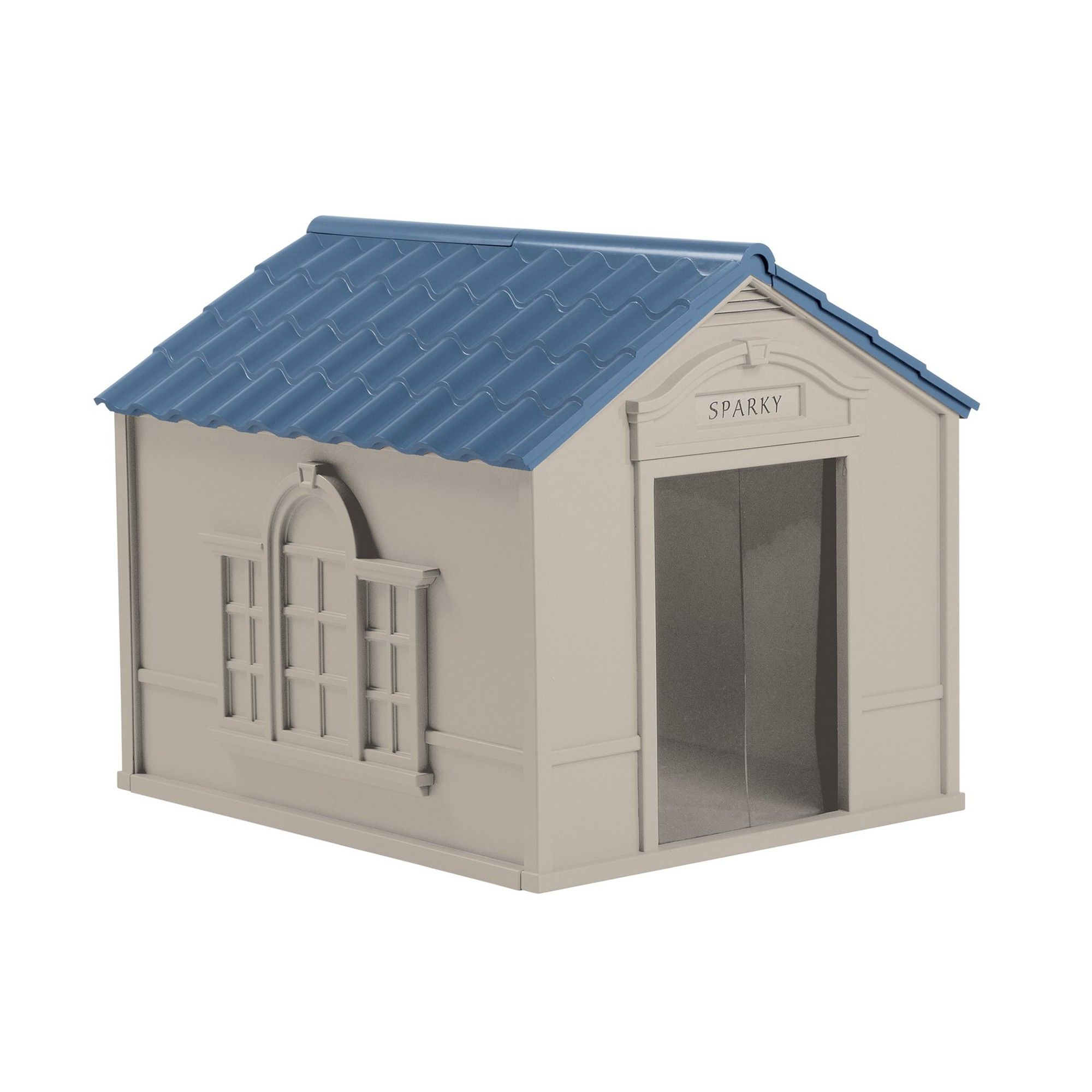 Suncast Outdoor Deluxe Weatherproof Dog House With Door Small To