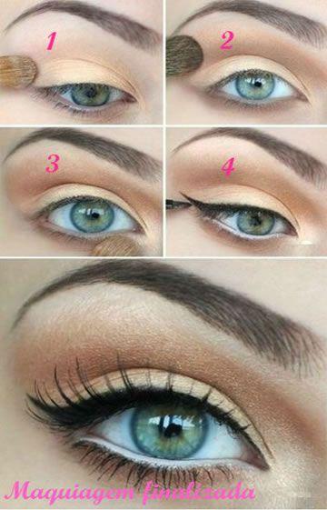 Dica De Maquiagem Passo A Passo Com Delineador Maquiagem Pinterest