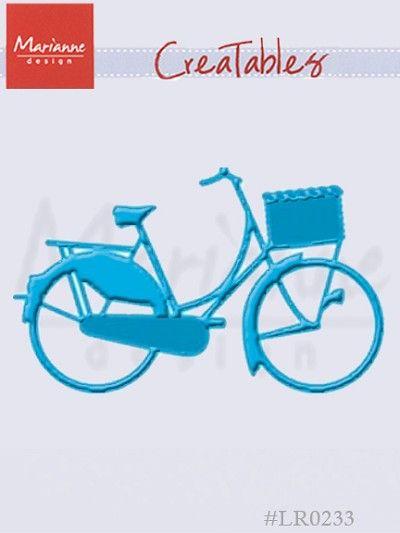 Marianne Design CREATABLES Stencil BICYCLE BIKE Die LR0233 Cut Emboss