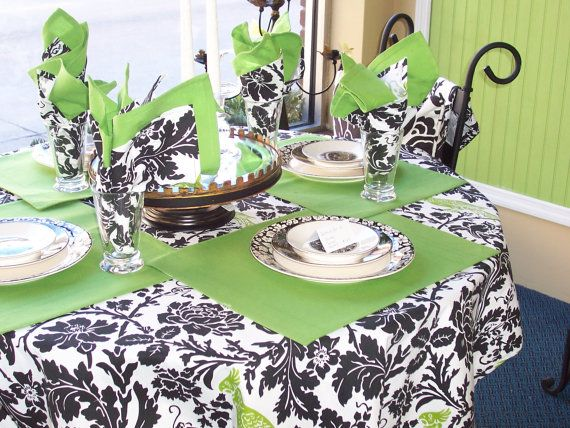 Custom Tablecloth Barber Chartreuse 54 X 84 By HomeLush On Etsy, $44.99