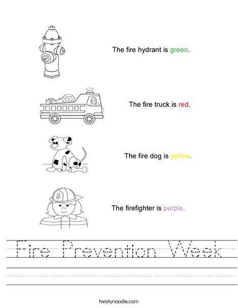 Fire Prevention Week Worksheet from TwistyNoodle.com | My 2 Boys ...