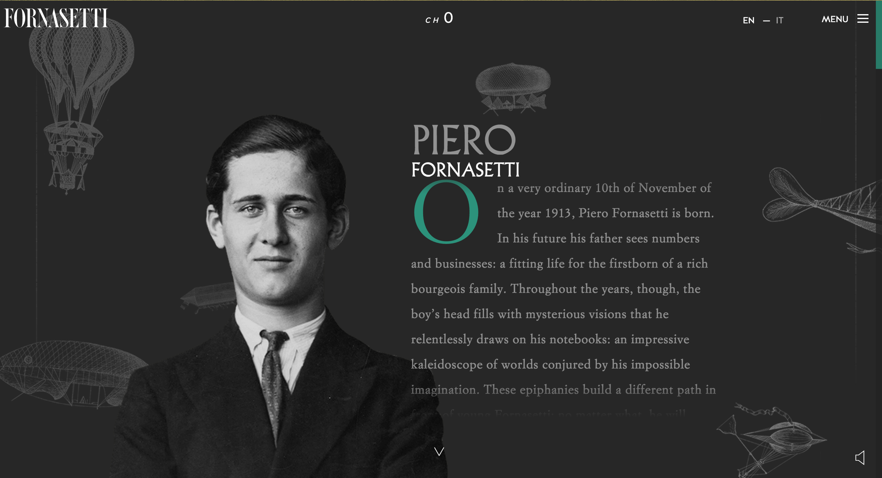 A beautiful website for the artist Pierro Fornasetti