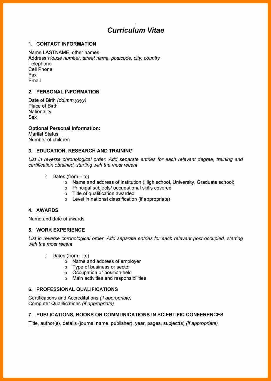 1 Page Cv Template South Africa 1 Cv Template Pinterest Cv