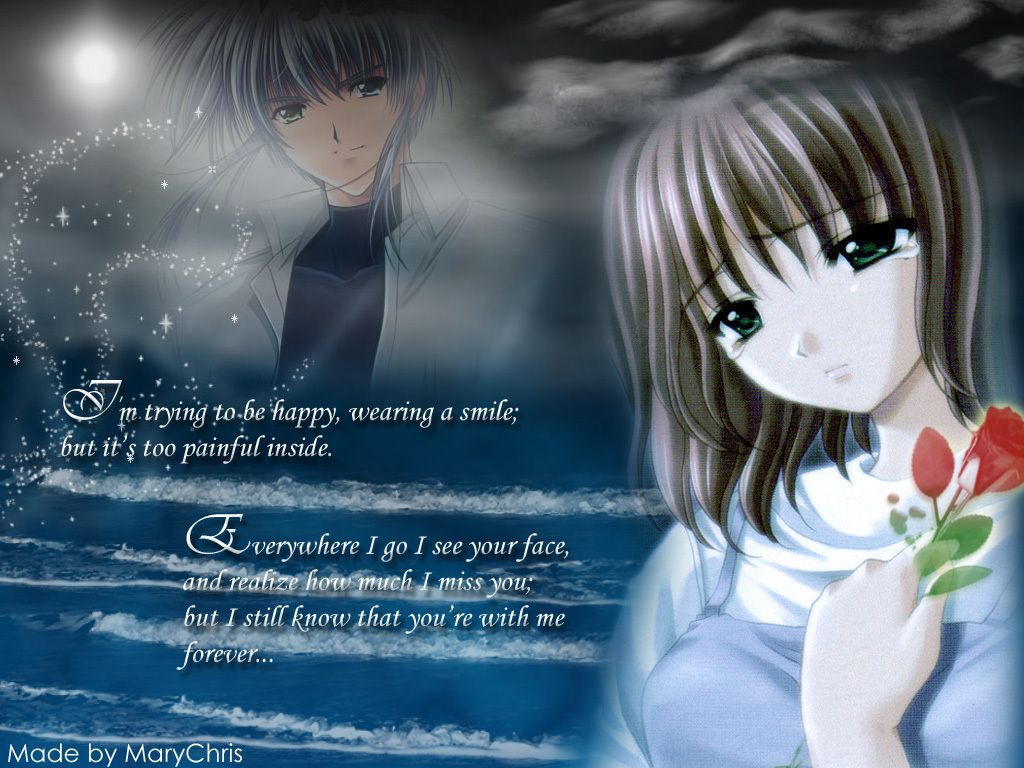 Anime Girl Wallpaper With Quotes