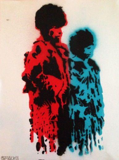 Stencil art by Greyson.