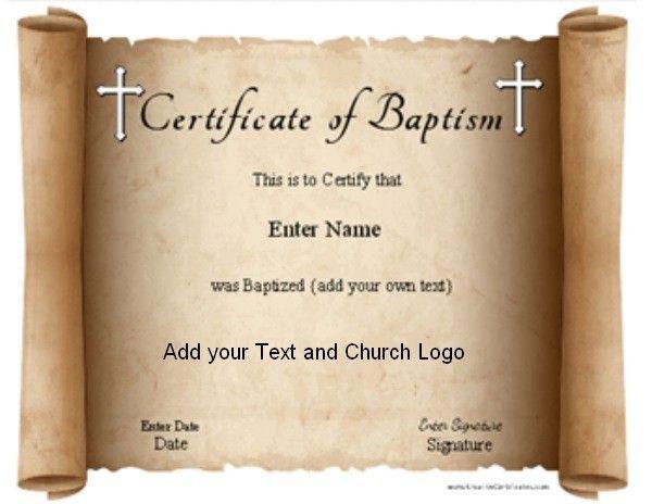 free printable baptism certificates templates