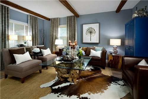 Superbe Beautiful Brown And Blue Color Scheme   Brown And Blue Interior Color  Schemes For An Earthy
