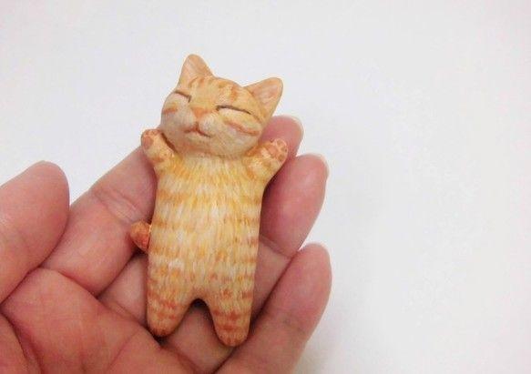 爆睡小貓(棕色虎3) | 擺飾 | 猫ハウス | Creema 手作・設計購物網站