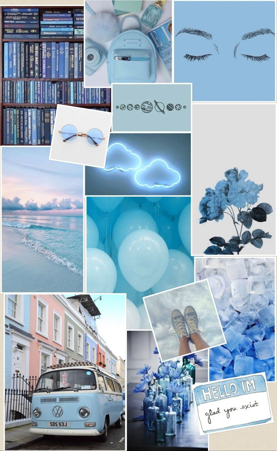 Blue Aesthetic Wallpaper Iphone Collage