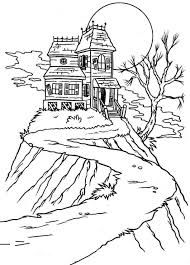 Image Result For Easy Haunted House Drawing Coloring Pages