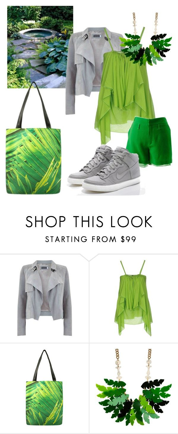"""""""Jungle inside"""" by getttt ❤ liked on Polyvore featuring Plein Sud, Chris Benz and NIKE"""