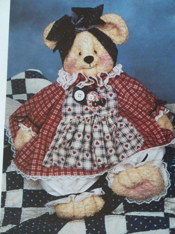 Craft Sewing Pattern Pammy Bear  Needle in a haystack by Bonnie Hunter - Etsy LindaHarvey,