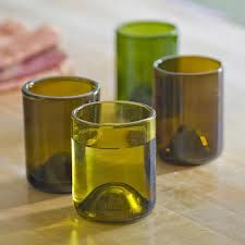 Image result for glass cups from bottles