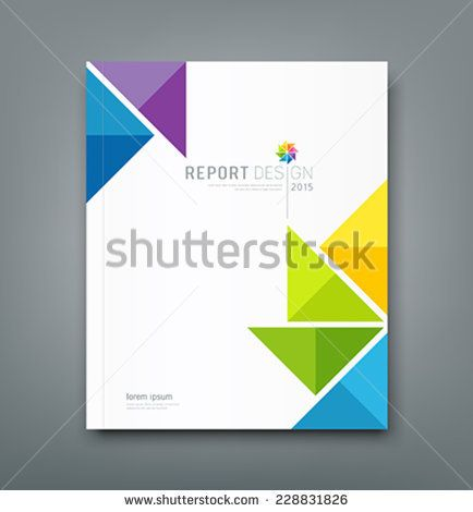 Cover page template coreldraw free vector download (19,276 Free - report cover page example