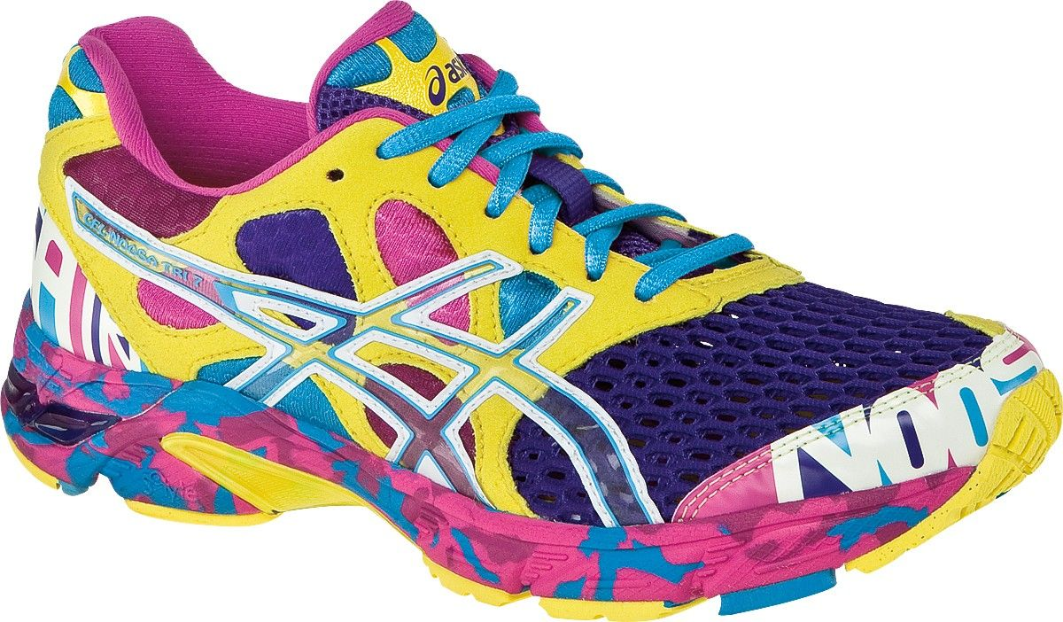 ASICS Women's GELNoosa Tri 7 Running shoes, these shoes are so ugly they  are cute and I want them! I am not afraid of the color they are comfy!