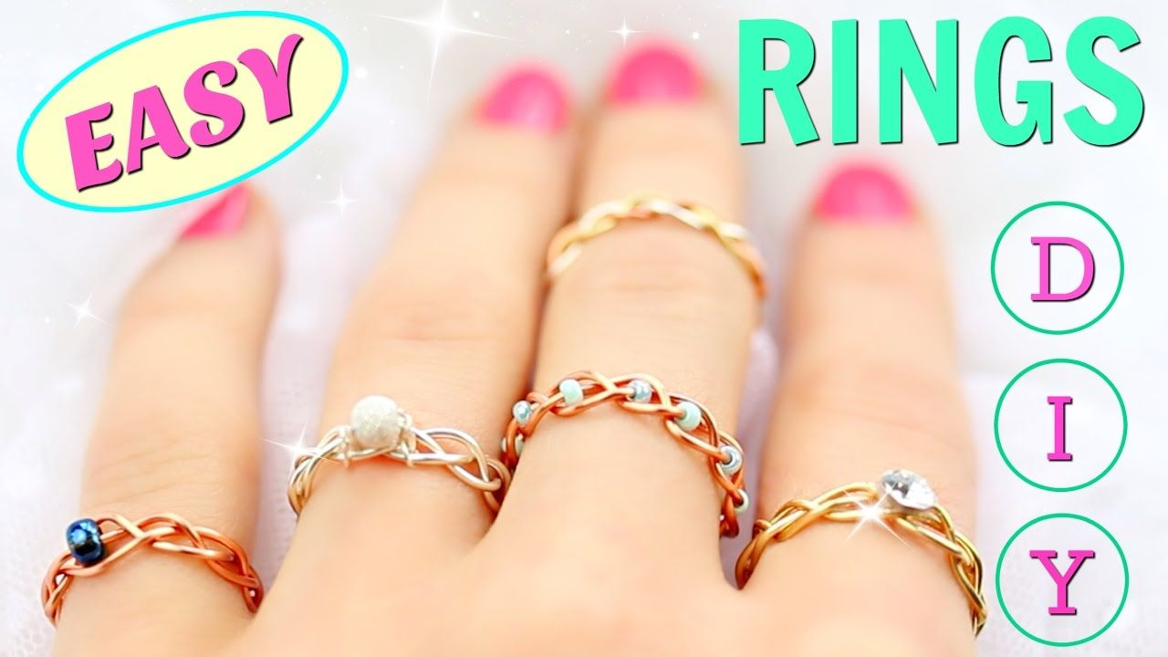 Diy Rings Adjustable No Tools Diy Easy Rings